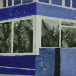 Blaeu Alkmaar 12,10x10x3,5 cm, olieverf op doek