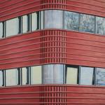 Brandweerkazerne Hoorn, 100x100 cm, olieverf op doek
