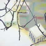 Buurt, 110x140 cm, olieverf op doek, 2009