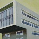 Rabobank  Alkmaar, 15x15x3,5 cm, olieverf op doek