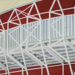 Stadion Almaar, 80x80 cm, olieverf op doek