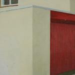 Straat Hoorn, 15x15x3,5 cm, olieverf op doek