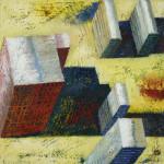 Yellow  Area, 30x30 cm, olieverf op doek, 2004