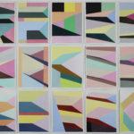 Serie Cityscape, 15x 27x36 cm acryl op doek