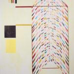 Shape of Space, 220 x 150 cm, olieverf en acrylverf op doek